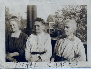 Three Vandusen sisters, upstate New York, circa 1905.
