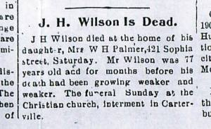 WILSON J H Jasper Co Democrat CROP